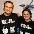 """Exclusif - Prix Spécial - Christophe Delay et Pascale de La Tour du Pin (BFMTV) ont participé au Kettler Challenge au profit de l'association """"L'étoile de Martin"""" à l'hôtel Molitor à Paris, le 1er décembre 2014."""