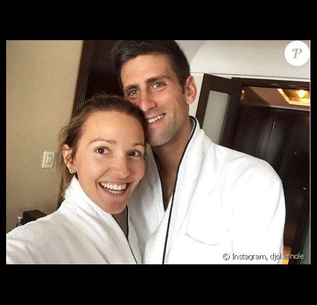 Novak Djokovic et sa femme Jelena posent sur Instagram, le 10 juillet 2017