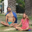 Semi-exclusive - Novak Djokovic, sa femme Jelena et leur fils Stefan en vacances à Marbella en Espagne le 20 octobre 2016.
