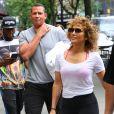 Exclusif - Jennifer Lopez et son compagnon Alex Rodriguez se rendent à leur cours de gym à New York, le 6 juin 2017
