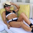 Alyssa Milano en maillot de bain lors d'un séjour à Miami - Photo publiée sur Instagram le 12 juillet 2017