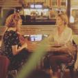 """Ingrid Chauvin sur le tournage de """"Demain nous appartient"""" sur TF1, le 1er juin 2017."""