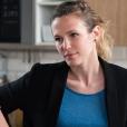 """Lorie Pester sur le tournage de """"Demain nous appartient"""" pour TF1, juin 2017."""