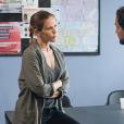"""Lorie Pester sur le tournage de la série """"Demain nous appartient"""" pour TF1, juin 2017."""