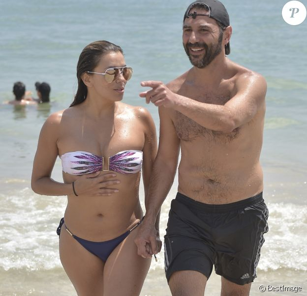 Eva Longoria et son mari José Baston à Ibiza le 21 juillet 2017.