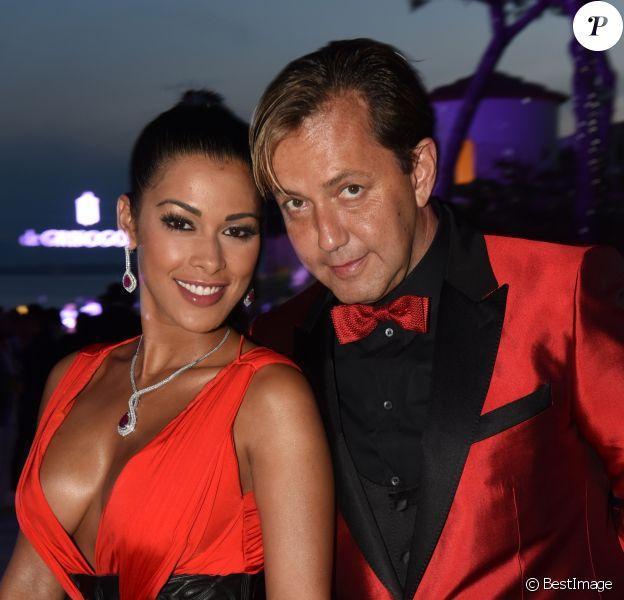 Ayem Nour et son ex-compagnon Vincent le 19 mai 2015 lors d'une soirée de Grisogono à l'hôtel Eden Roc au Cap d'Antibes pendant le 68e Festival International du film de Cannes.