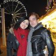 Ludovic Chancel et sa compagne Sylvie à l'inauguration de la 50eme édition de la Foire du Trône à Paris. Le 29 mars 2013.
