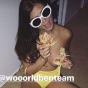 Maéva (Secret Story 10) topless en mangeant une pizza : La bombe fait mouche !