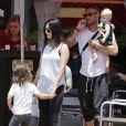 """"""" Exclusif - Megan Fox et son mari Brian Austin Green sont allés déjeuner au restaurant mexicain """"Los Arroyos Montecito"""" avec leurs enfants Noah Shannon, Bodhi Ransom et Journey River, le 9 juillet 2017 à Santa Barbara """""""