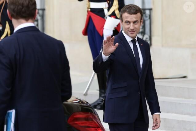 Le président de la République Emmanuel Macron à la fin du 19ème conseil des ministres franco-allemand au palais de l'Elysée à Paris, le 13 juillet 2017. © Stéphane Lemouton/Bestimage