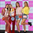 """Les soeurs Amelia et Delilah Hamlin, et Scarlet et Sophia Stallone - Lancement de la campagne publicitaire """"Millennial Sisters"""" par Samantha Vega à Tokyo, le 26 juillet 2017."""
