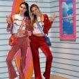 """Amelia et Delilah Hamlin - Lancement de la campagne publicitaire """"Millennial Sisters"""" par Samantha Vega à Tokyo, le 26 juillet 2017."""