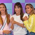 """Jennifer Flavin et ses filles Scarlet et Sophia Stallone - Lancement de la campagne publicitaire """"Millennial Sisters"""" par Samantha Vega à Tokyo, le 26 juillet 2017."""