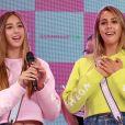 """Les filles de Sylvester Stallone, Scarlet Rose et Sophia Rose Stallone - Lancement de la campagne publicitaire """"Millennial Sisters"""" par Samantha Vega à Tokyo, le 26 juillet 2017."""