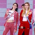 """Les filles de Lisa Rinna, Amelia Gray Hamlin et Delilah Belle Hamlin - Lancement de la campagne publicitaire """"Millennial Sisters"""" par Samantha Vega à Tokyo, le 26 juillet 2017."""