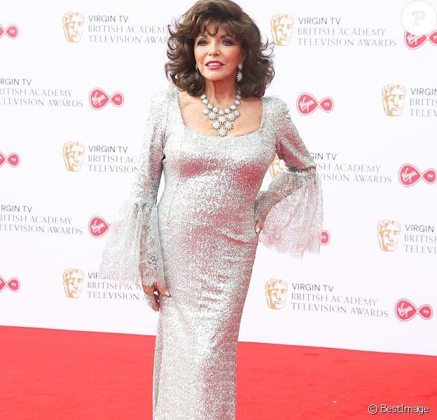 Dame Joan Collins - Cérémonie des Virgin TV BAFTA Televison Awards 2017 à Londres le 14 mai 2017