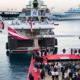 Le M/V Yersin des Explorations de Monaco a quitté le port Hercule le 27 juillet 2017 à 22h30 pour une campagne de recherche de 3 ans à travers le monde. © Les Explorations de Monaco