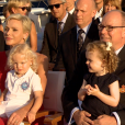 Avec les bons voeux du prince Albert II de Monaco, de la princesse Charlene et de leurs enfants le prince Jacques et la princesse Gabriella, le M/V Yersin des Explorations de Monaco a quitté le port Hercule le 27 juillet 2017 à 22h30 pour une campagne de recherche de 3 ans à travers le monde. © Les Explorations de Monaco