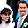 Arnold Schwarzenegger et Maria Shriver le jour de leur mariage en 1986