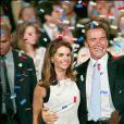 Maria Shriver et Arnold Schwarzenegger lors de son élection à la tête du gouvernement de Californie en 2003