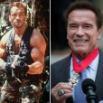 Arnold Schwarzenegger fête ses 70 ans ce dimanche 30 juillet 2017 -  A gauche en 1987 et à droite en 2017