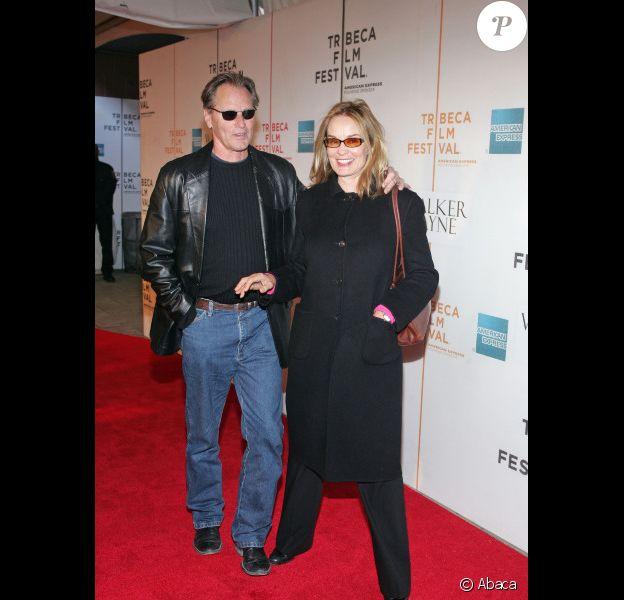 Jessica Lange et Sam Shepard au festival du film de Tribeca à New York en 2006