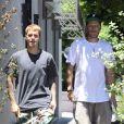 Exclusif - Justin Bieber est allé déjeuner avec le pasteur Chad Veach à Los Angeles le 26 juillet 2017