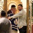 Exclusif - Justin Bieber a fait la fête avec des amis à l'hôtel Montage à Beverly Hills, le 24 juillet 2017.
