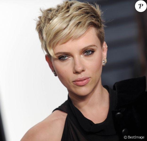 Scarlett Johansson - People à la soirée Vanity Fair en marge de la cérémonie des Oscar 2017 à Los Angeles le 26 février 2017.