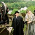 Robert Hardy incarnait Cornelius Fudge dans la saga Harry Potter. Ici dans Le Prisonnier d'Askaban en 2003.