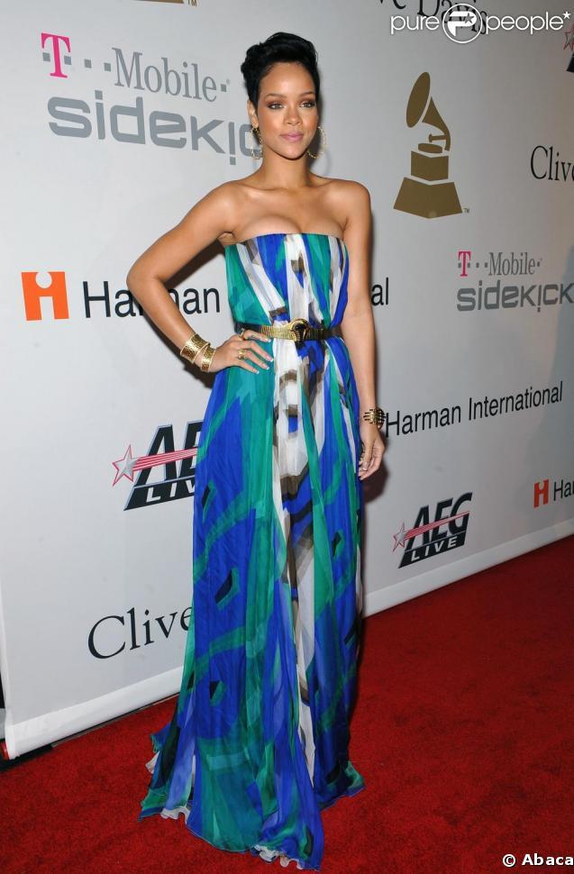 Rihanna à la soirée pré-Grammy