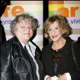 Jeanne Moreau et Josée Dayan à Paris, février 2008. La Cinémathèque célèbre les 60 ans de cinéma de Jeanne Moreau.