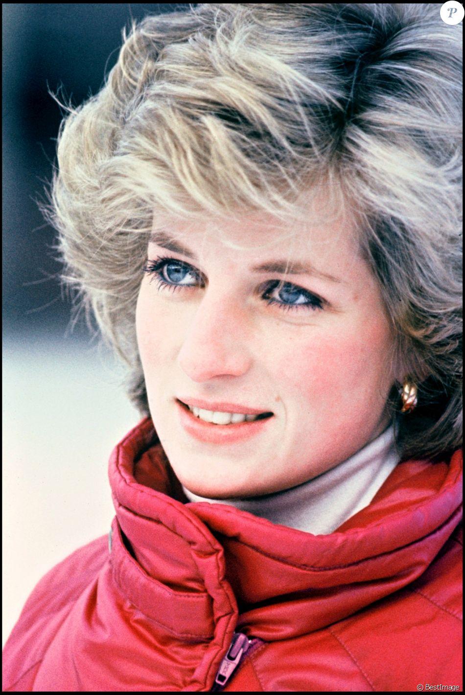 La Princesse Diana Lech En Autriche Janvier 1985