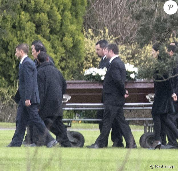 Funérailles du père de la reine Maxima, Jorge Zorreguieta, au cimetière du Parque Memorial proche de Buenos Aires, Argentine, le 10 août 2017.