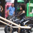 Zazie Beetz sur le tournage de Deadpool à Vancouver le 8 août 2017.