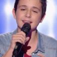 """Loïc dans """"The Voice Kids 4"""", le 19 août 2017 sur TF1."""