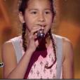 """Sahna dans """"The Voice Kids 4"""" sur TF1, le 19 août 2017."""