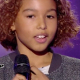 """Dylan dans """"The Voice Kids 4"""" sur TF1, le 19 août 2017."""