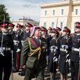 Le prince héritier Hussein de Jordanie est sorti de l'Académie militaire royale de Sandhurst, à Camberley dans le Berkshire, le 11 août 2011. Ses parents le roi Abdullah II de Jordanie (photo), qui représentait la reine Elizabeth II pour la parade de sortie, sa mère la reine Rania, ses soeurs les princesses Iman et Salma ainsi que son frère le prince Hashem étaient tous présents.
