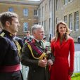 Le prince héritier Hussein de Jordanie est sorti de l'Académie militaire royale de Sandhurst, à Camberley dans le Berkshire, le 11 août 2011. Ses parents le roi Abdullah II de Jordanie, qui représentait la reine Elizabeth II pour la parade de sortie, sa mère la reine Rania, ses soeurs les princesses Iman et Salma ainsi que son frère le prince Hashem étaient tous présents.