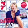 """Sophie Davant en couverture du magazine """"Télé 7 Jours"""", en kiosques lundi 21 août 2017."""