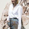"""Camille Rowe au défilé de mode Haute-Couture automne-hiver 2017/2018 """"Christian Dior"""" à l'Hôtel des Invalides à Paris, le 3 juillet 2017 © Olivier Borde/Bestimage"""