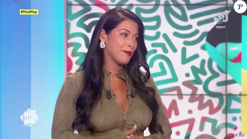 """Ayem Nour amincie sur le plateau du """"Mad Mag"""", le 28 août 2017 sur NRJ12."""