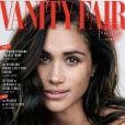 Meghan Markle en couverture de Vanity Fair, édition du mois d'octobre 2017. L'actrice américaine y parle pour la première fois du couple qu'elle forme avec le prince Harry.