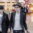 Exclusif - Evan Rachel Wood et son compagnon Zach Villa main dans la main à l'aéroport de Montreal le 16 décembre 2016