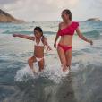 Laeticia Hallyday profite de la fin de ses vacances à Saint-Barthélemy avec sa fille Jade. Instagram, le 30 août 2017.