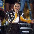 "Demi Lovato chante sur le plateau de ""Good morning America"" à New York le 18 août 2017 © Bruce Cotler/Globe Photos via ZUMA Wire / Bestimage"