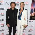 """Johnny Hallyday et sa femme Laeticia Hallyday à la première de """"Rules Don't Apply"""" à Los Angeles, le 10 novembre 2016."""
