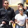 Jennifer Lopez et son compagnon Alex Rodriguez vont à leur séance de gym à New York, le 24 août 2017.