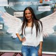 """Maëva (Le Mag) - Photocall des """"Anges 7"""" au Barrio Latino à Paris, le 26 mai 2015."""